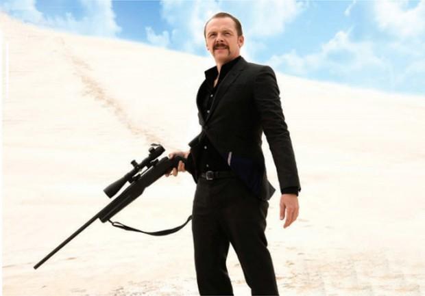 Simon Pegg en Kill Me Three Times