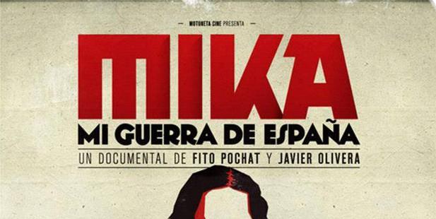 Póster de Mika, mi guerra de España