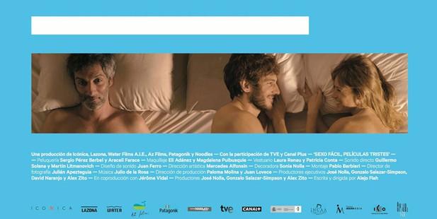 Póster de Sexo fácil, películas tristes teaser póster España